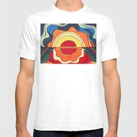 Ocean Sunset Mens Fitted Tee White SMALL