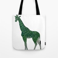 Giraffe is for Green Tote Bag