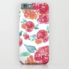 Pastel Spring Flowers Watercolor iPhone 6 Slim Case