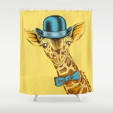 I'm too SASSY for my hat! Vintage Painted Giraffe. Shower Curtain