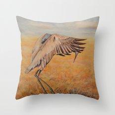 Sandhill Crane Promenade Throw Pillow