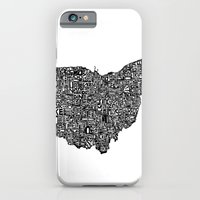 iPhone & iPod Case featuring Typographic Ohio by CAPow!