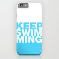 iPhone & iPod Case featuring Keep Swimming by Tyler Bramer