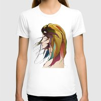 Autumn Wind Womens Fitted Tee White SMALL