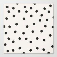 vintage dots 1 Canvas Print