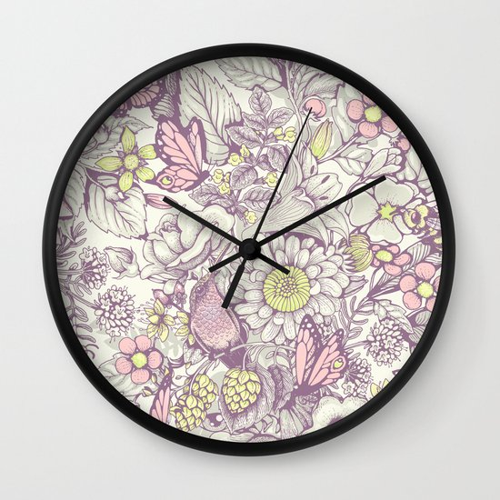 Beauty (eye of the beholder) - pale version Wall Clock