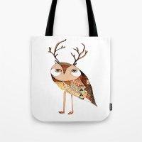 Owl Print, Owl Illustrat… Tote Bag