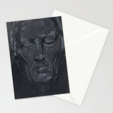 Portrait of man with eyes closed Stationery Cards
