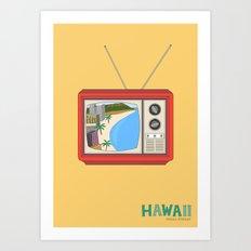 Hawaiian TV Art Print