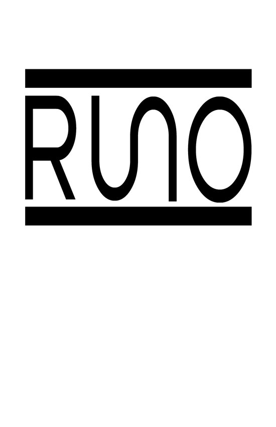 Rue Nothing RUNO Logo Bordered Art Print