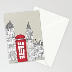 London Red Telephone Box Stationery Cards