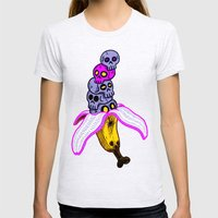 Death By Banana Womens Fitted Tee Ash Grey SMALL