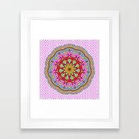 Mix&Match;  Pretty Pink Mandala Meditation pillow 02 Framed Art Print
