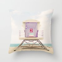Lifeguard Tower 2  Throw Pillow
