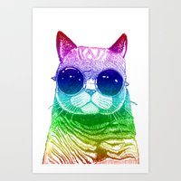 Technicooler Cat Art Print