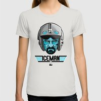 ICEMAN Womens Fitted Tee Silver SMALL