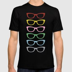 Glasses #3 Mens Fitted Tee SMALL Black