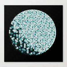 Glowing Green Circle Canvas Print