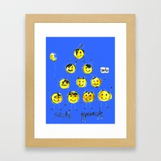 support happiness Framed Art Print