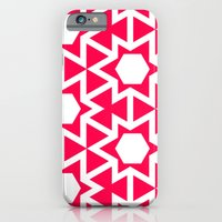iPhone & iPod Case featuring Zoutman Neon Pink Pattern by Stoflab