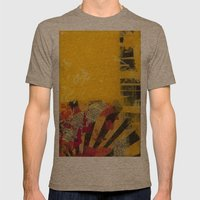 YELLOW5 Mens Fitted Tee Tri-Coffee SMALL