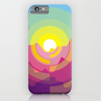 iPhone Cases featuring Sunrise over the mountain by Sharen Bob - GD