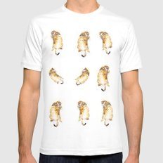A Day in the Life of a Retired Kung fu Kitty Mens Fitted Tee White SMALL