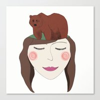 Bear in Mind Canvas Print