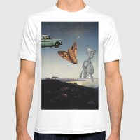 And I Feel Like Everything's Surreal Mens Fitted Tee White SMALL