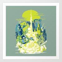 Smash! Zap!! Zooom!! - A… Art Print