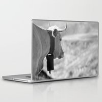cow Laptop & iPad Skins featuring Cow by Crazy Thoom