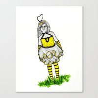The BumbleBee Girl  Canvas Print