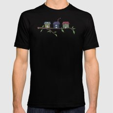 Treehouses Black Mens Fitted Tee SMALL