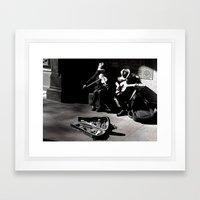 Street Musicians Framed Art Print
