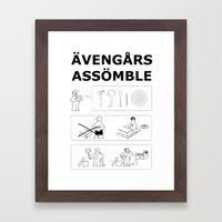 Superheroes Assembling -… Framed Art Print