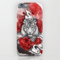 White Tiger, Red Sun iPhone 6 Slim Case