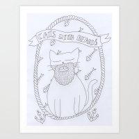 cats with beards Art Print