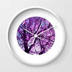 purple tree XXXII Wall Clock