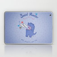 Social Monster Blue Laptop & iPad Skin
