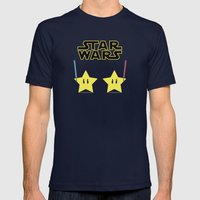 Star Wars Mens Fitted Tee Navy SMALL
