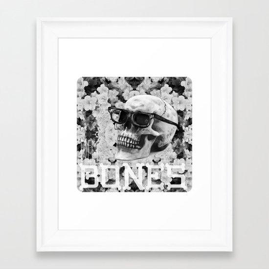Bone Framed Art Print
