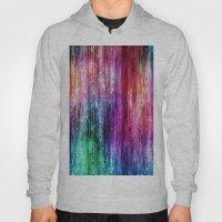 Melting Rainbow Watercolor Abstract Hoody