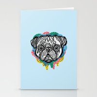 Pug Face Stationery Cards