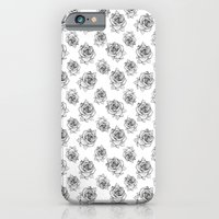 Rose Line Pattern iPhone 6 Slim Case