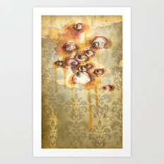 Drippy Victorian Eyeballs Art Print