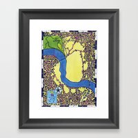 Tiny Underdog City Map Framed Art Print