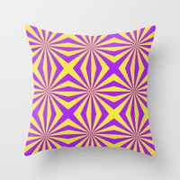 Sunbeams In Violet And Y… Throw Pillow