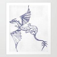 A Dragon's Tale Art Print