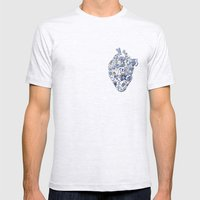 Broken heart - kintsugi Mens Fitted Tee Ash Grey SMALL