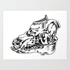 Pig Skull Art Print